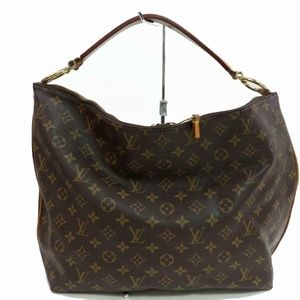 Louis Vuitton Sully Mm Brown Monogram Canvas Hobo